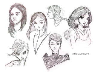 Character studies! by ArielTW