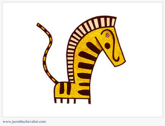 Zebre jaune by Jassou