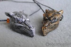 Dragon head pendants by metazoe