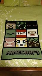 Minecraft Blanket by AmandaJayne00