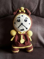 Crochet Cogsworth by AmandaJayne00
