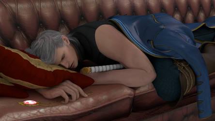 Sleeping Vergil by Taitiii