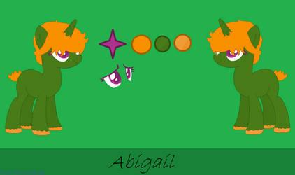 New Oc Ref Sheet Abigail by Kankuroeevee