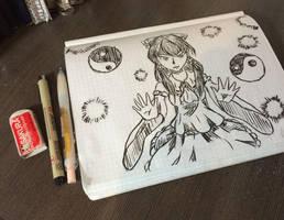 Touhou  Reimu Doodle by Rhea-LOCKWING