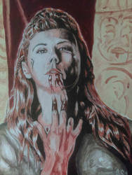 Queen Lagertha acrylic by sitoman