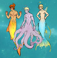 Mermen in Spaaaace! by DarkChibiShadow