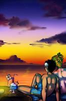 Tribute Sunset by DarkChibiShadow