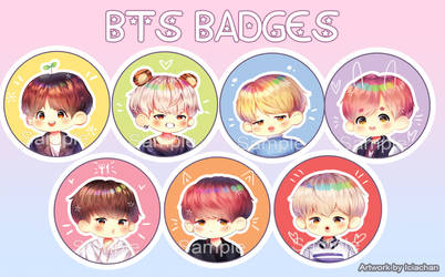 BTS Chibi Badges (Preview) by IciaChan
