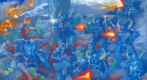 Alpha Legion against Orks (Maniplus de Sindri) by DimitrijGontscharart