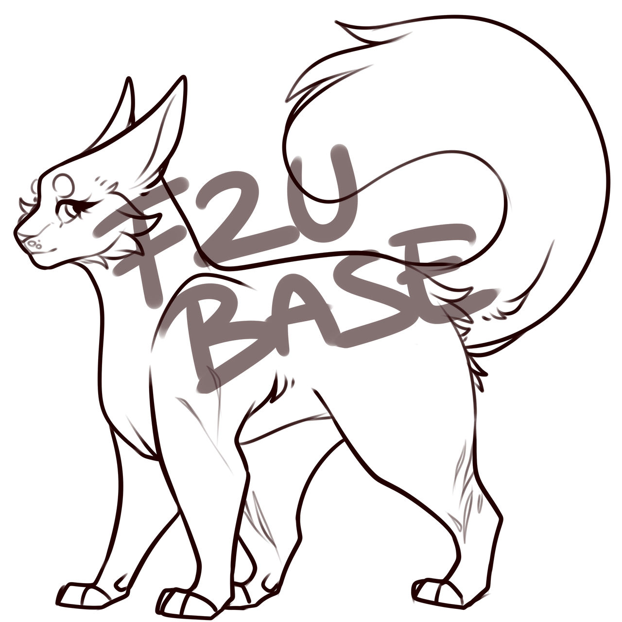 Fu Warrior Cat Base By Xutaes