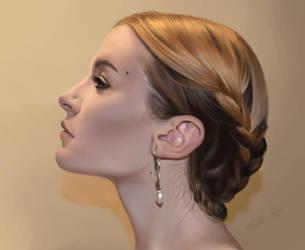 Woman face by CarolMylius