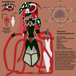 Hateshinai Reference Sheet by Rougealienpirate