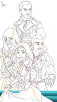AC Rogue Poster WIP - Assassins by imajanaeshun