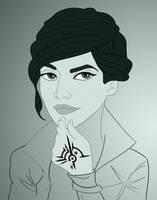 Dishonored 2 Poster WIP - Emily Kaldwin by imajanaeshun