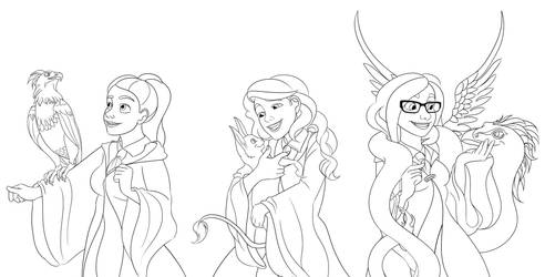 My Hogwarts Friends - Magical Creatures (WIP) by imajanaeshun