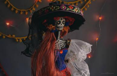 Dolores Day of the Dead II: art doll by LellecoShop