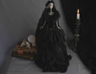 Corvina Winter II: Dark Beauty art doll by LellecoShop