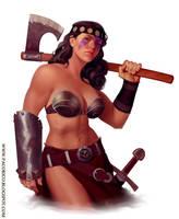 Barbarian girl by Mancomb-Seepwood