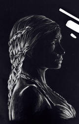 Portrait of Daenerys Targaryen by artbsaad