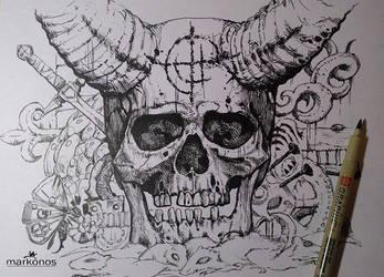 skull by markonos