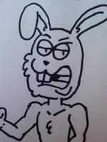 Green Murder Bunny by GreenUnicornArt