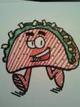 Walking Taco by GreenUnicornArt