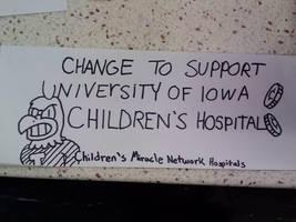 Sign for Children's Hospital by GreenUnicornArt