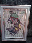 Mandalorian Money framed by GreenUnicornArt