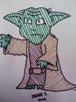 3 min drawing of Yoda by GreenUnicornArt