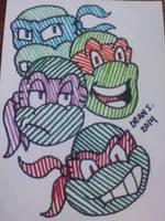 Ninja Turtles by GreenUnicornArt