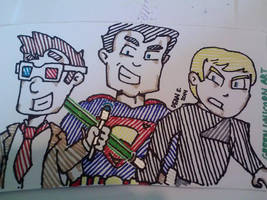 Doctor, Superman, and Luke by GreenUnicornArt