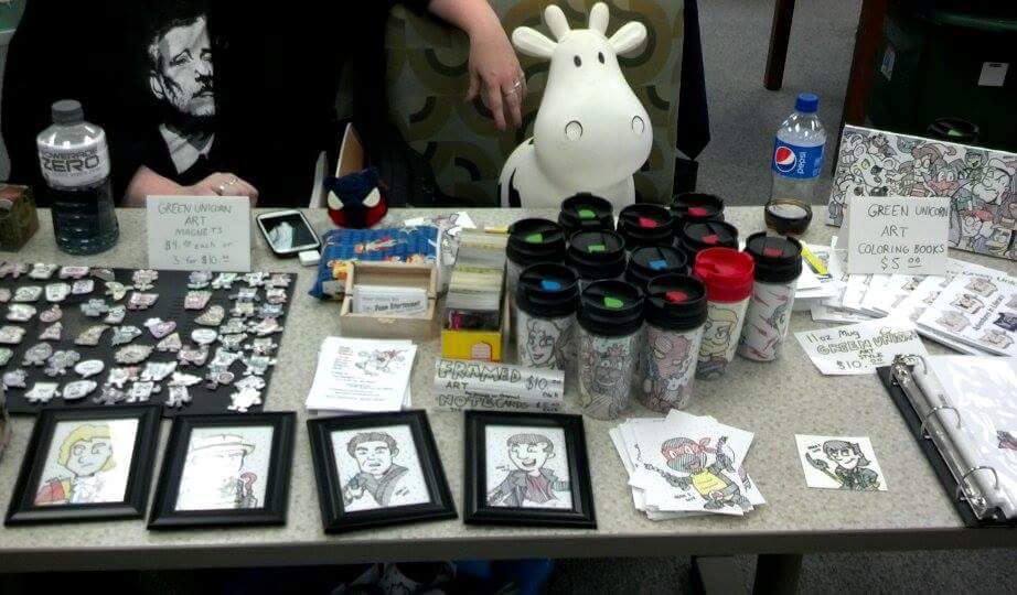My Table at RODCON by GreenUnicornArt