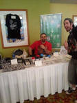 My table at the MinICON by GreenUnicornArt
