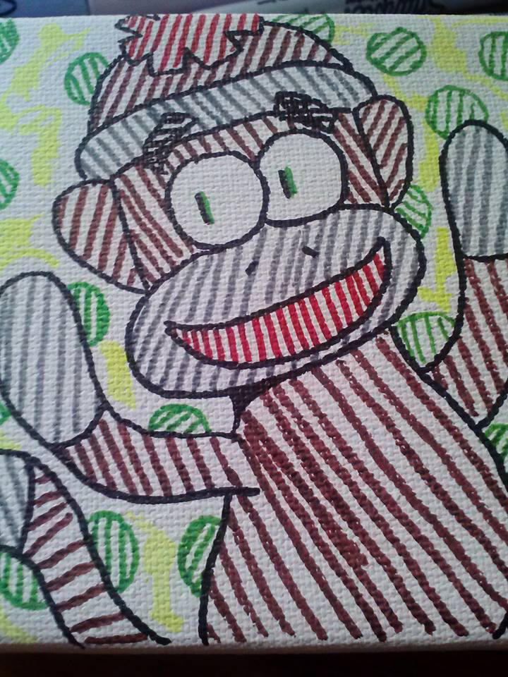 Sock Monkey by GreenUnicornArt