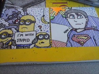 Minion and Superman by GreenUnicornArt