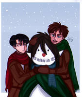 Ereri 7 P~ Miracle With Snow by MellxArts
