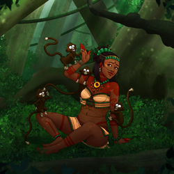 Mayans ~ Izta and best friends by Eyoha