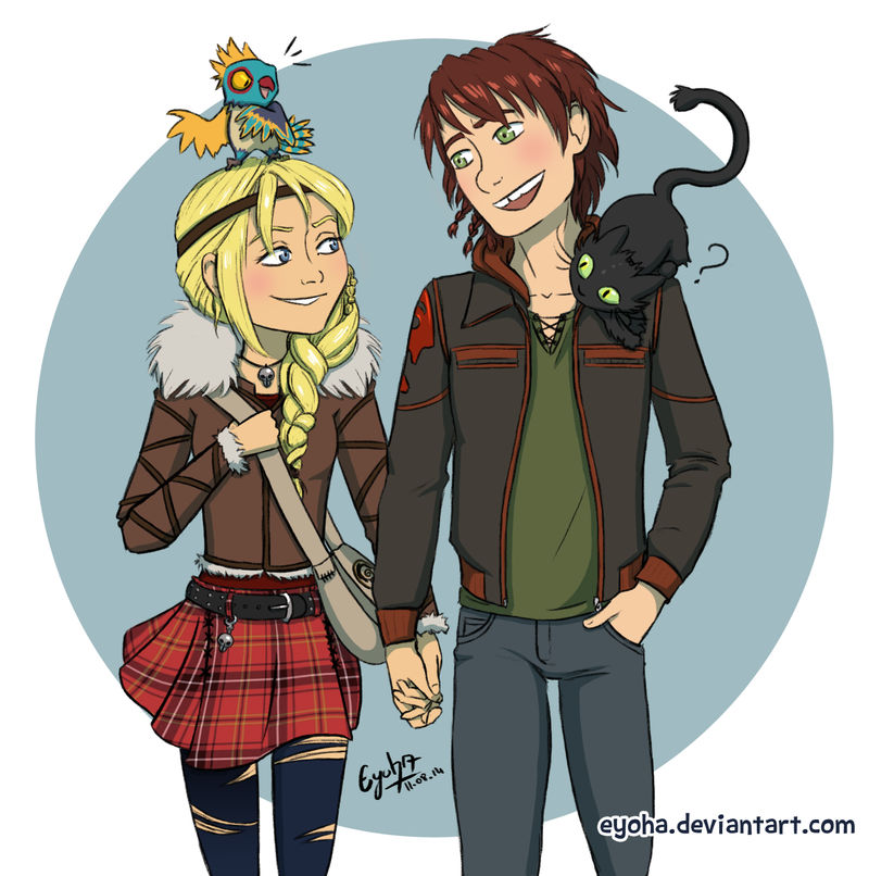 Hiccup And Astrid By Eyoha On DeviantArt