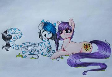 Best friends [COMM] by Dexterisse