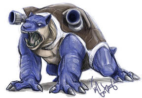 Blastoise.. by guardianofire