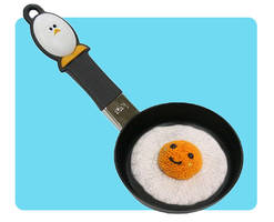 Happy Fried Egg Knitted Toys by AmareeLis