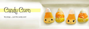 Knitted Candy Corn on a Plate by AmareeLis