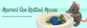 Marisol Knitted Mouse Love Candies by AmareeLis