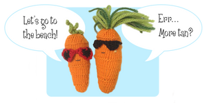 Sweet and Cool Carrots Knitted Toys by AmareeLis