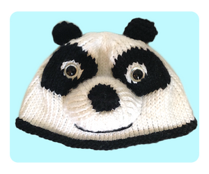 Knitted Panda Hat Beanie by AmareeLis