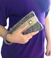 Knitted Elegant Clutch Handbag by AmareeLis