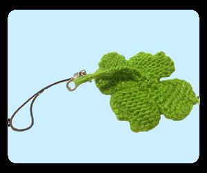 Four Leaf Clover Keychain Free Knitting Pattern by AmareeLis