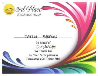 3rd Place Talent Show Winner! by rkerekes13