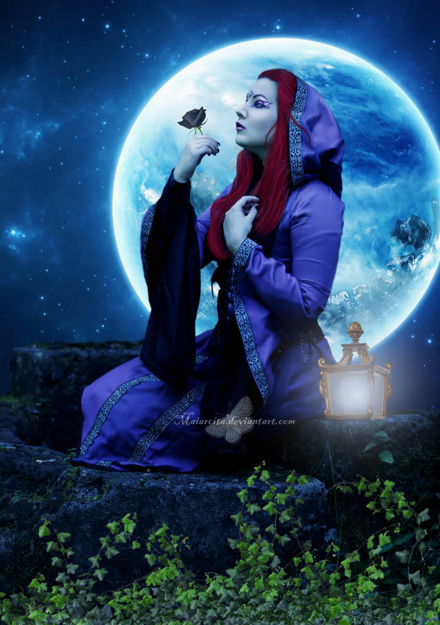 The Rose and The Moon by maiarcita