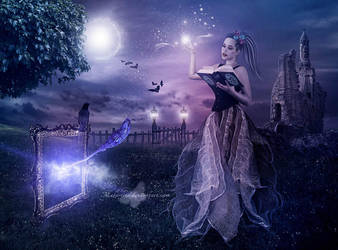 The Magic Broom by maiarcita